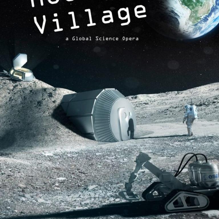 Moon Village Scene WALES - Global Science Opera 2017